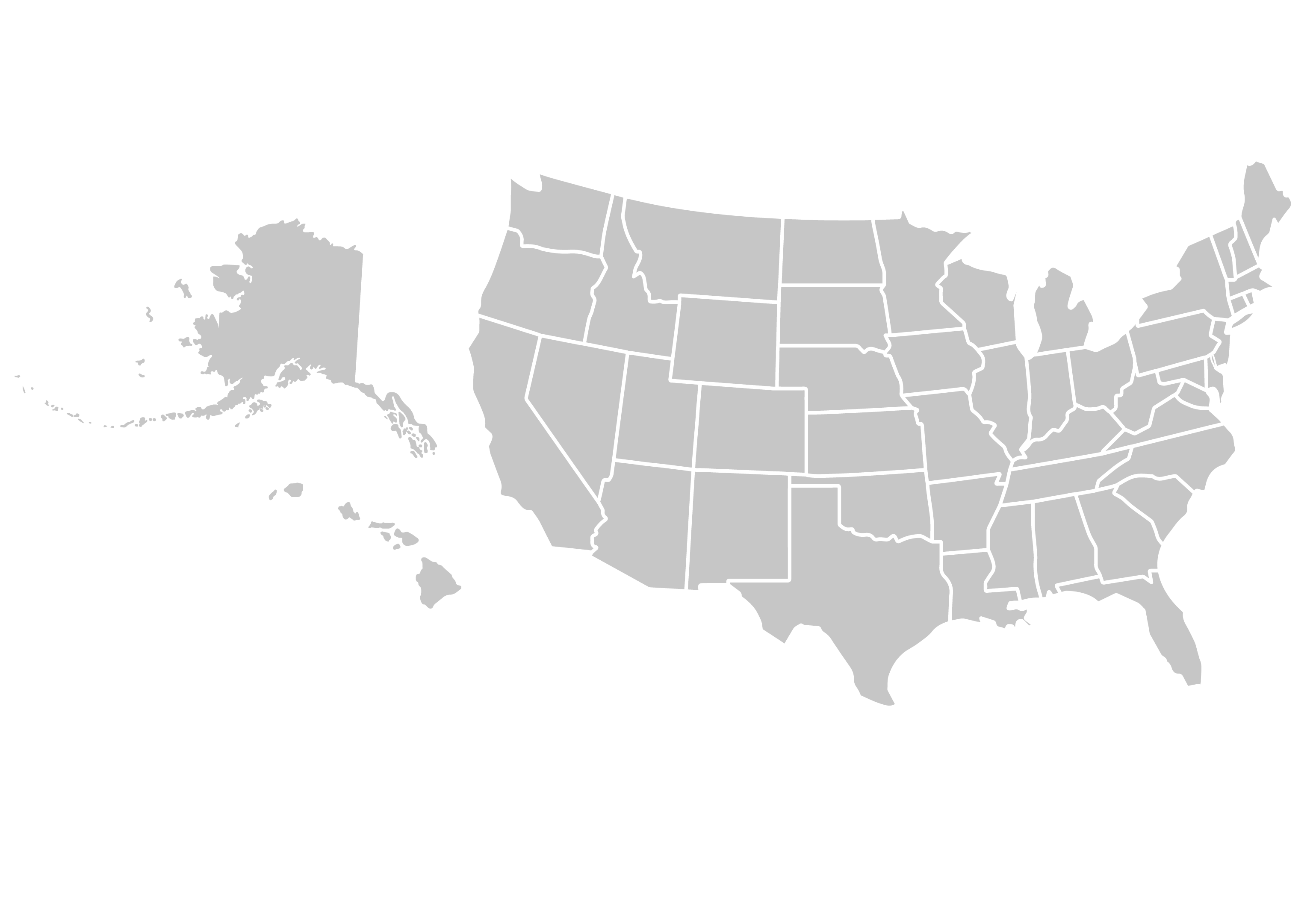 Silhouette of the United States