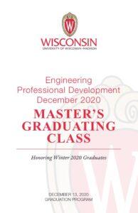 EPD December 2020 Master's Graduation Class